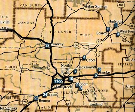Central Arkansas Map