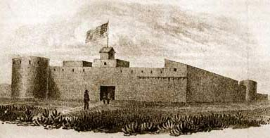 Early Artist's Depiction of Bent's Fort on the Arkansas River