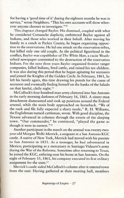 Donald S. Frazier's description of John R. Baylor in his book, Blood & Treasure