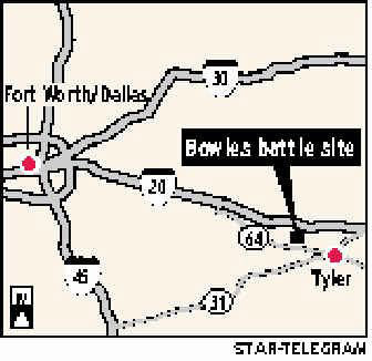 Picture of Map to Bowles Battle Site