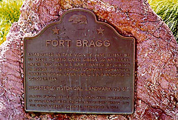 Picture of Fort Bragg Marker