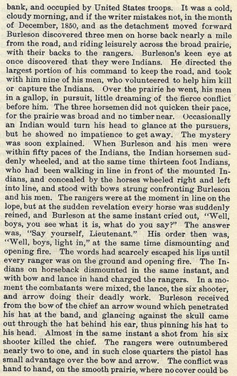 Major Ed Burleson's Fight with Foot Indians