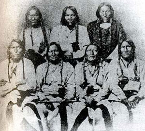 Picture of Cheyenne and Arapaho Chiefs Bosse, Notanee, Heap of Buffalo, Bull Bear, Black Kettle, Neva and White Antelope
