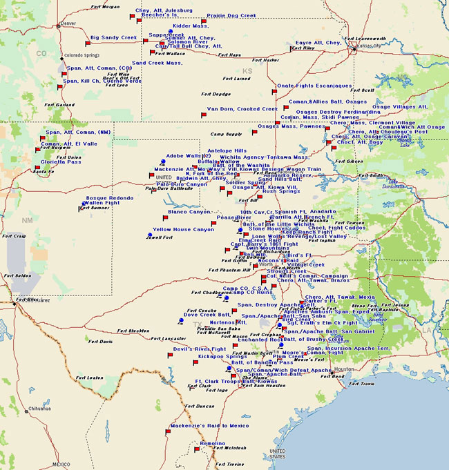 Fort Tours Inc Comancheria Forts - Map of southern texas