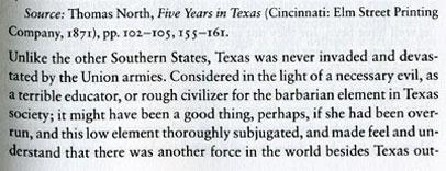 Yankee Impression of 1860's Texas