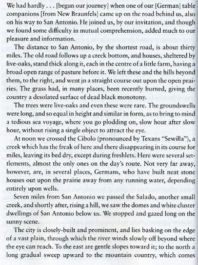 Frederick Law Olmsted's First Hand Account of 1856 San Antonio