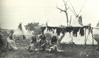 Picture of Comanches Drying Meat