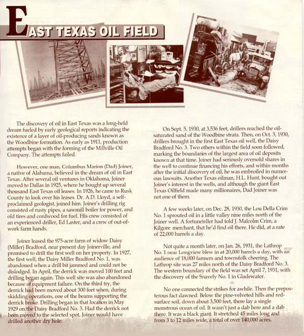 East Texas Oil Information