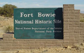 Picture of Fort Bowie National Historic Site Sign