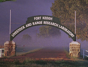 Picture at Gate of Fort Keogh