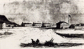 1861 Engraving of Fort Lancaster