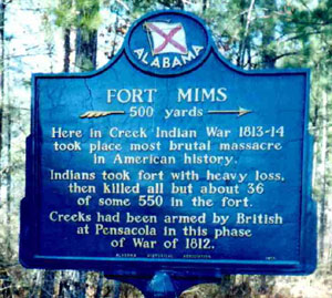 Picture of Fort Mims Historical Marker