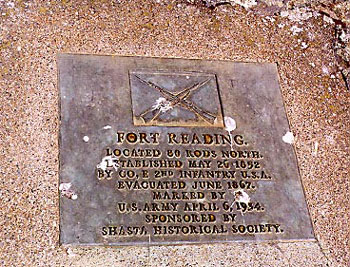 Picture of Fort Reading Historical Marker