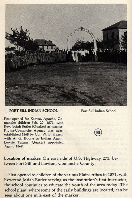 Fort Sill Indian School Picture