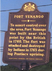 Picture of Fort Venango Historical Marker