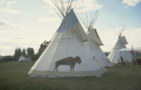 Teepees at Fort Bridger