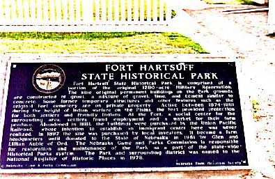 Picture of Fort Hartsuff Plaque