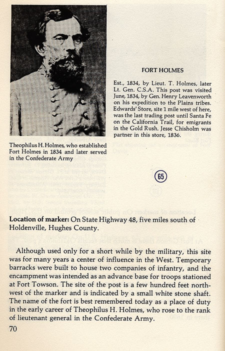Theophilus H. Holmes Picture