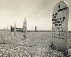 Picture of Headstone at Fort Wallace