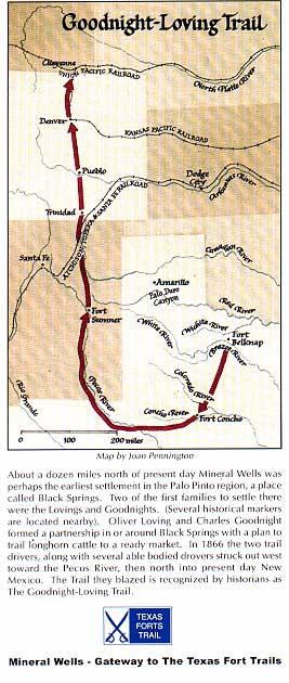 Map of Goodnight Loving Trail