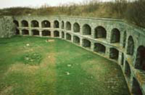 Picture of Parade Ground and Gun Casements at Fort Gorges