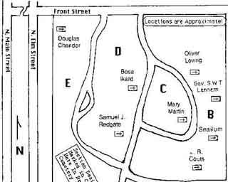 Greenwood Cemetery Diagram