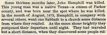 John Hemphill story by WIlbarger
