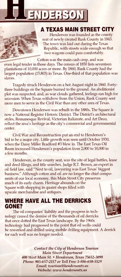 Henderson Information