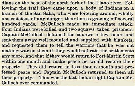 Henry McCulloch story from Wilbarger
