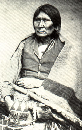 Picture of Comanche Chief Oska Horseback