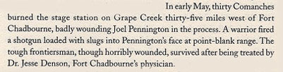May 1861 Joel Pennington Wounded at Fight at Grape Creek