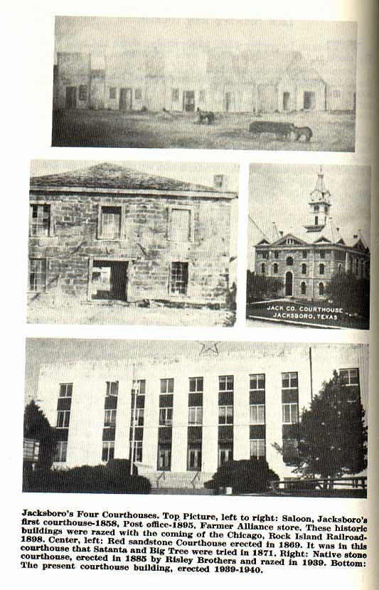 Jacksboro's Four Courthouses