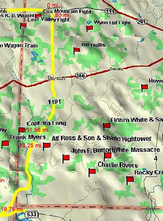 1191 South to 16 Map