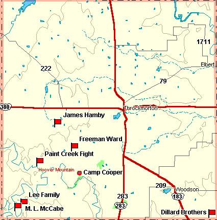 Throckmorton County Map