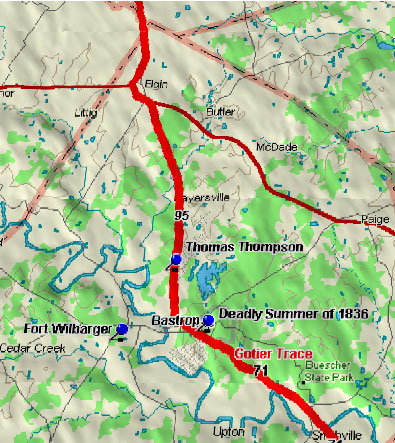 Bastrop Map