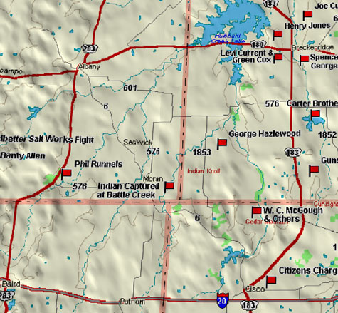Map of Breckenridge Blood Trail