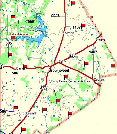 Brown County Map