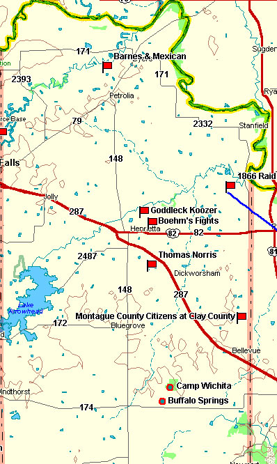 Clay County Map