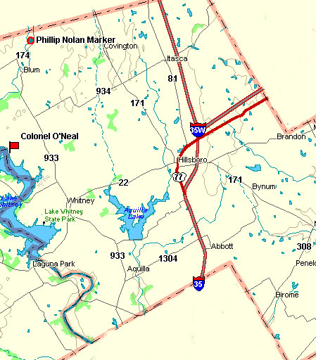Hill County Map