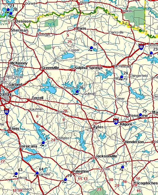Map Of North East Texas My Blog - Map of east texas