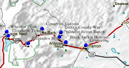 Philmont New Mexico Map.Fort Tours Northwest Part Of Northeastern New Mexico Historical