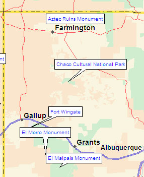 Northwest New Mexico Map