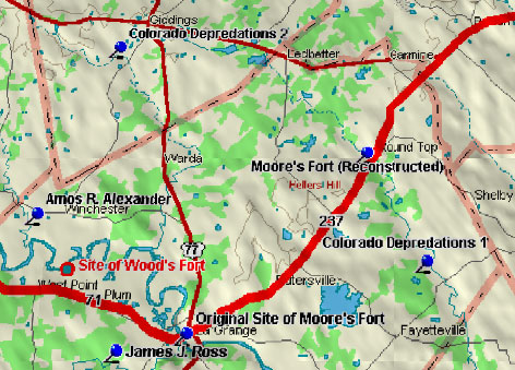 Moore's Fort Blood Trail Map