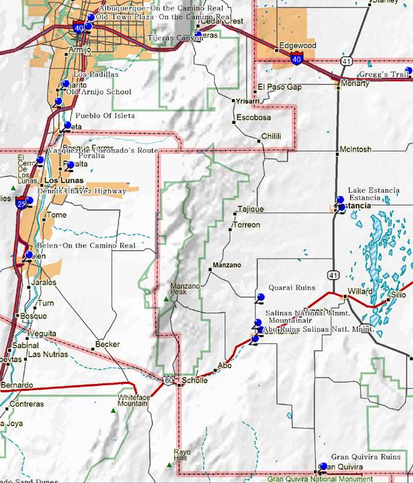 Southern Albuquerque New Mexico Map