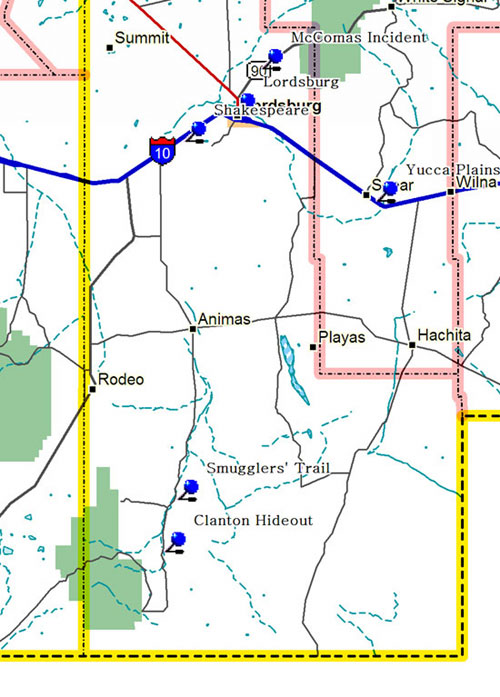 Southwest Part of Southwestern New Mexico Map
