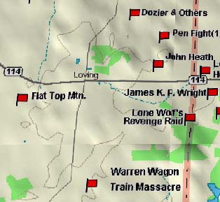 Warren Wagon Train Map