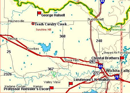 Wichita County Map