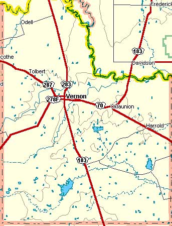 Wilbarger County Map
