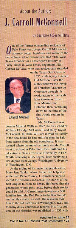 Joseph Carroll McConnell Article