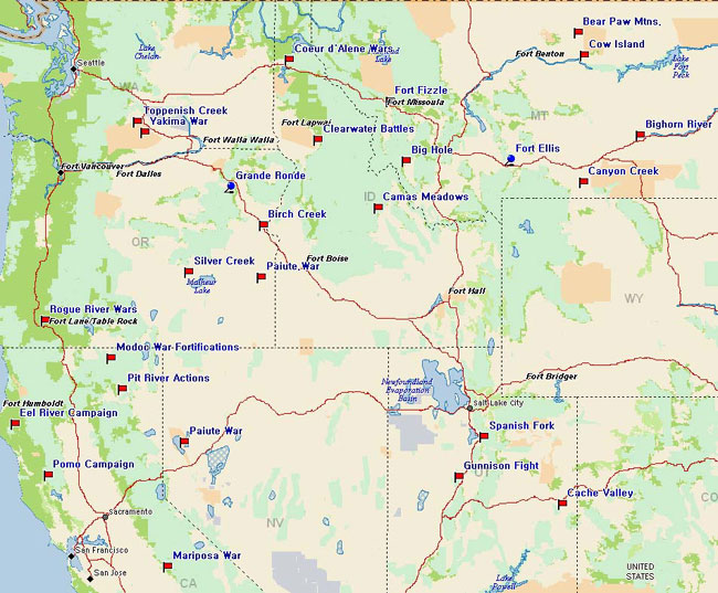 Map Of Northwest United States Thefreebiedepot - Us map with nountains